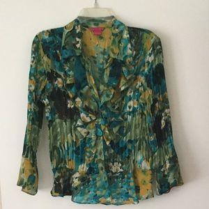 Sunny Leigh multicolored women's blouse M/L